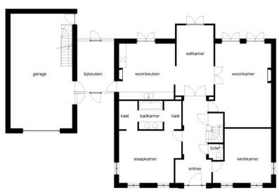 Binnenkant gave plattegrond for Plattegrond van je huis maken