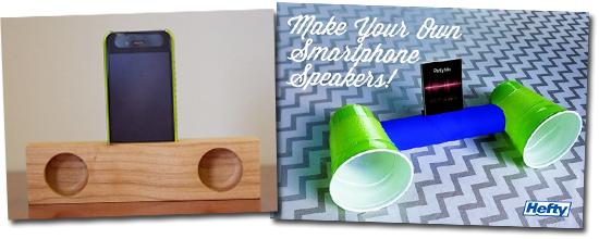 Alto falantes caseiros e bonitos para celular
