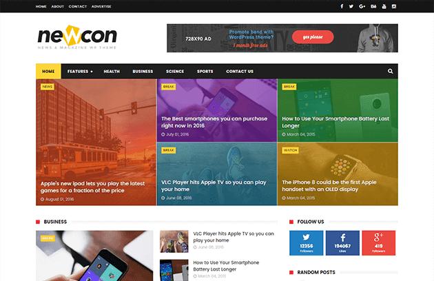 newcon тема для blogger 2017
