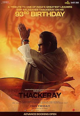 Poster Thackeray 2019 Hindi HD 300Mb 480p