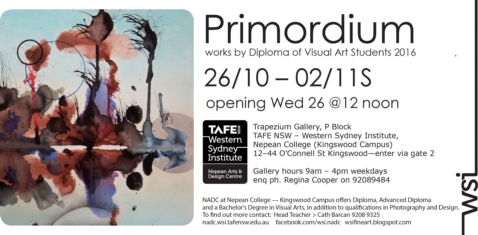 fine art at nepean arts and design centre primordium works by diploma of visual arts students 2016
