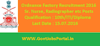 Ordnance Factory Recruitment 2016 for Various Posts Apply Online Here