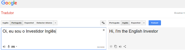 O google tradutor te ajuda a aprender inglês e melhor de graça
