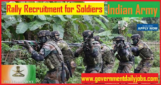 Indian Army Recruitment Rally 2018 Soldier/ Clerk Online Application in Fatehgarh (UP)