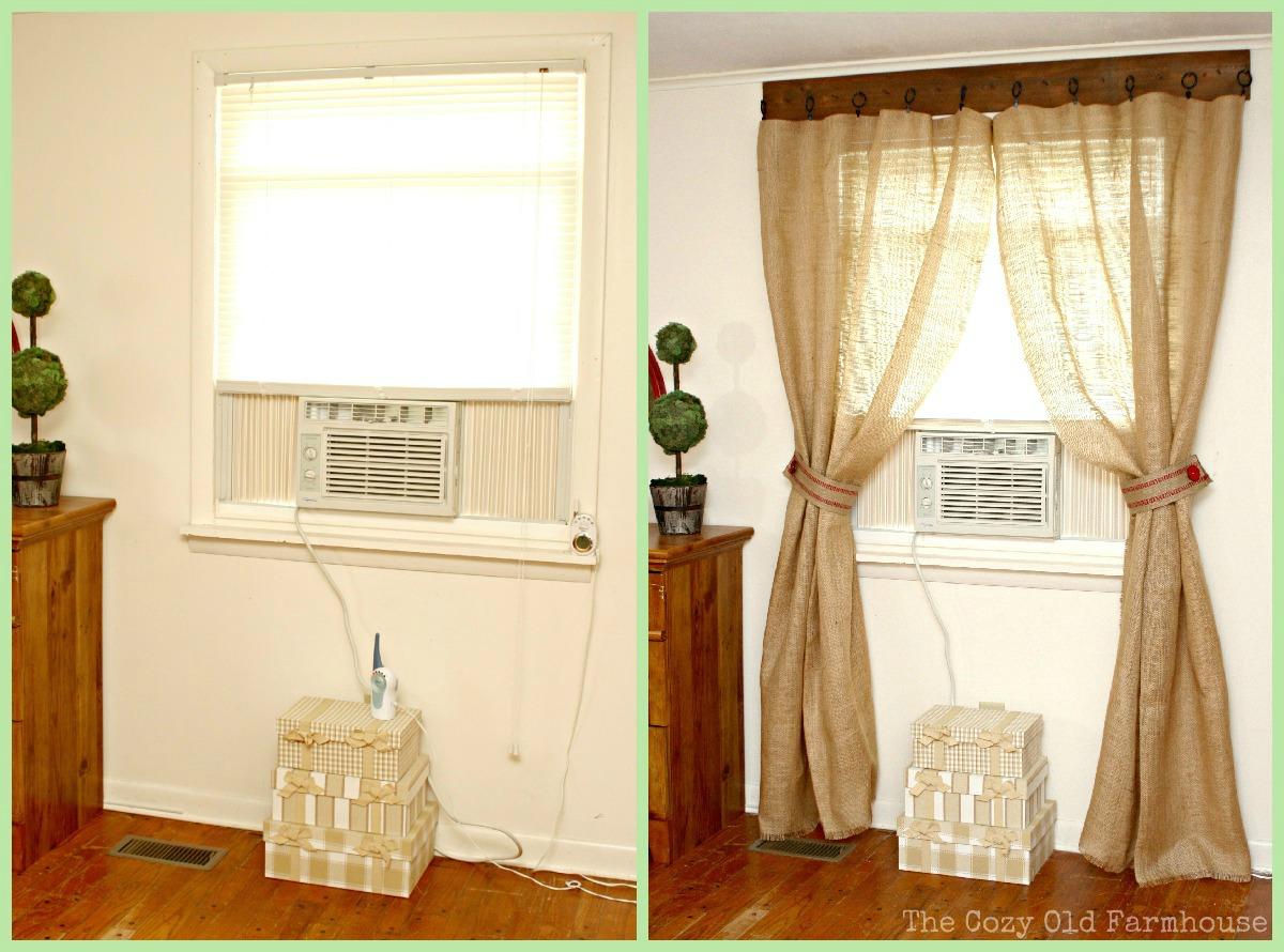 """The Cozy Old """"Farmhouse"""": We FINALLY Have Curtains!! on Farmhouse Curtains Ideas  id=21816"""