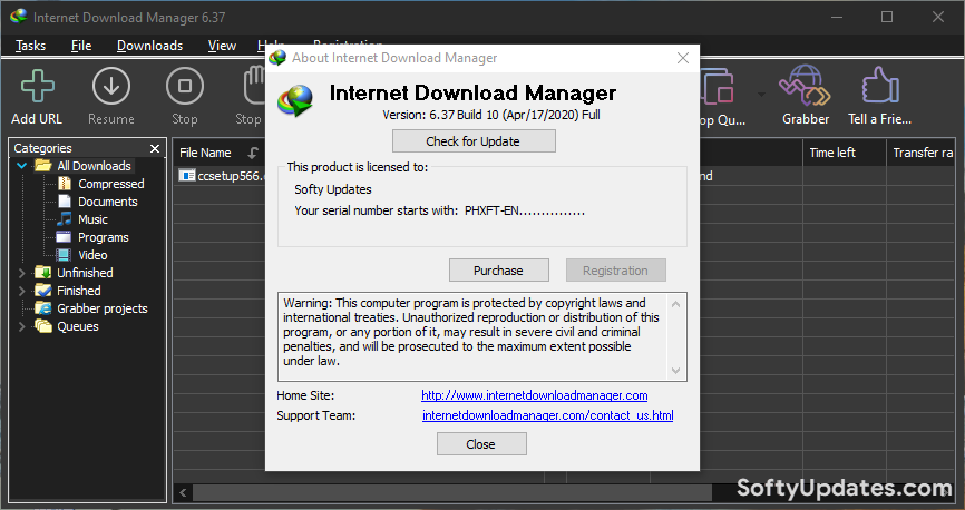 Internet Download Manager 6.37 Build 10