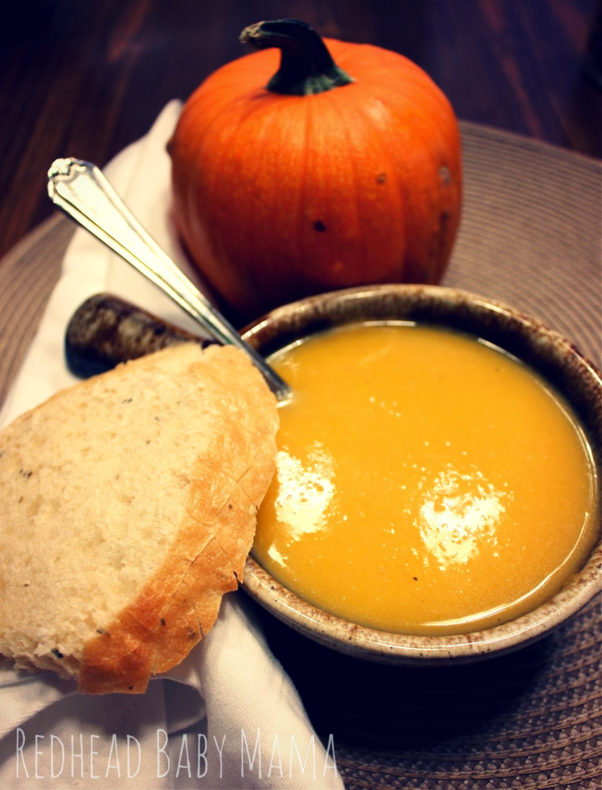 Butternut Squash and Apple Harvest Soup - Redhead Baby Mama