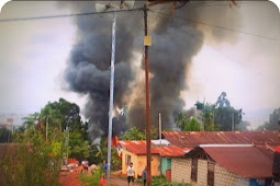Dua Rumah Warga Hamadi Gunung Ludes Terbakar