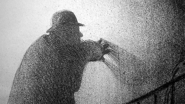 Hermann Paul artist, a man climbing stairs