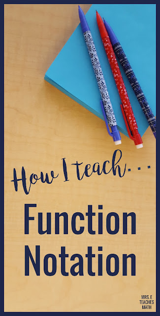 Teaching function notation in math can be tricky!  Algebra students in special education will love this lesson.