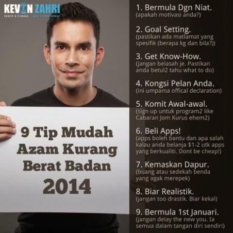 http://kevinzahri.com/blog/health-fitness/azam-kurangkan-berat-badan-2014/