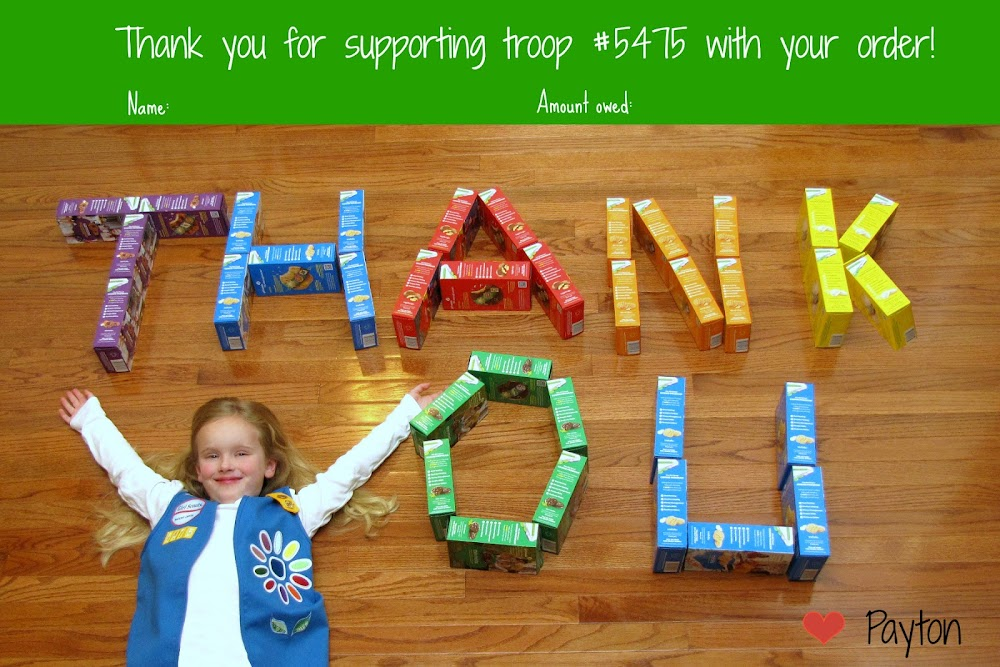 Girl Scout Thank You Personalized Card