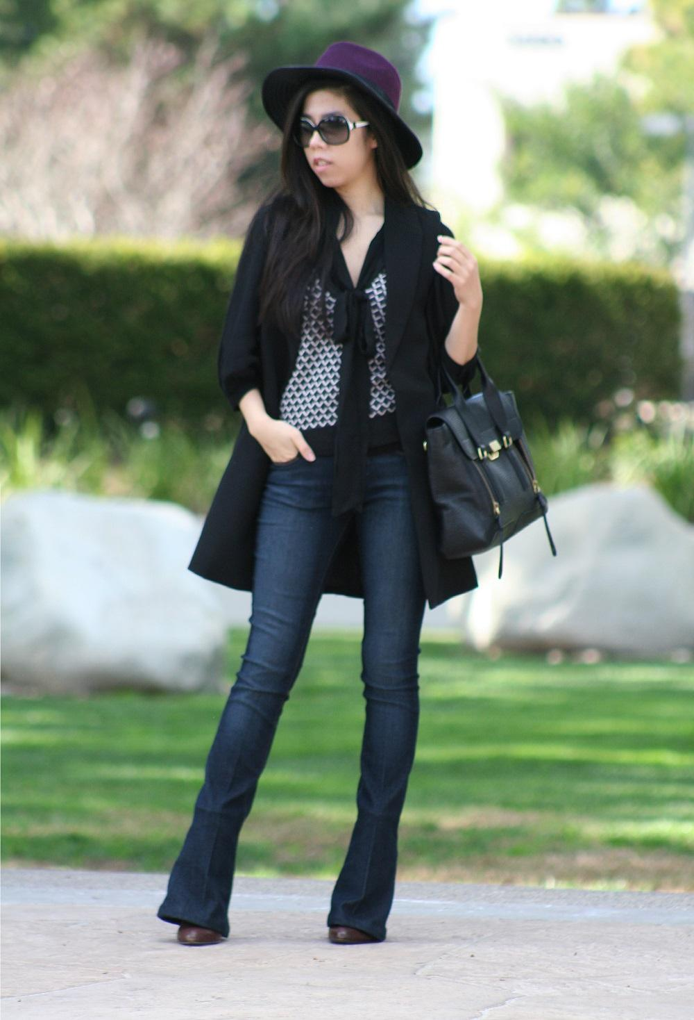 Look like a French Girl in Flare Pants - Paige Denim - Adrienne Nguyen