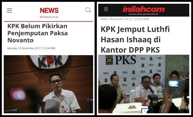 KPK Belum Pikirkan Penjemputan Paksa Novanto; Gak Punya Nyali / Sandiwara Apa Lagi?