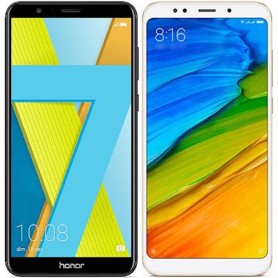 Honor 7X vs Xiaomi Redmi 5 Plus 64G