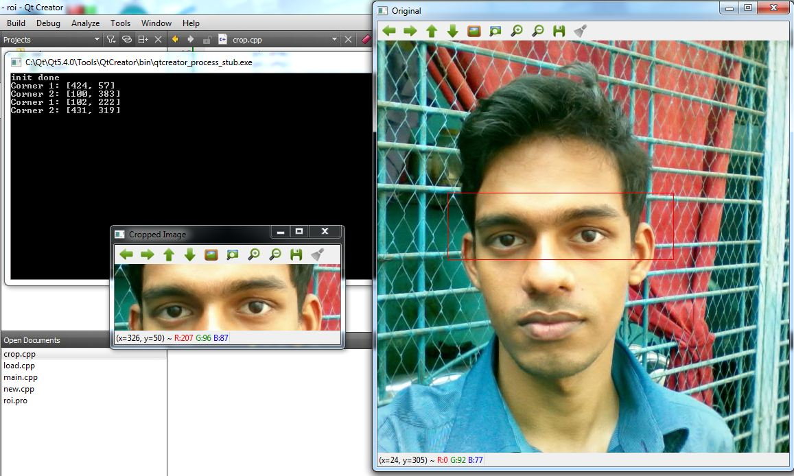 How to Crop Image with Mouse Callbacks using OpenCV C++