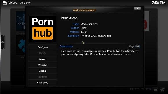 Pornhub Kodi