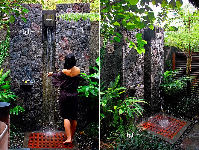 rock-wall-wooden-floor-garden-shower-ideas