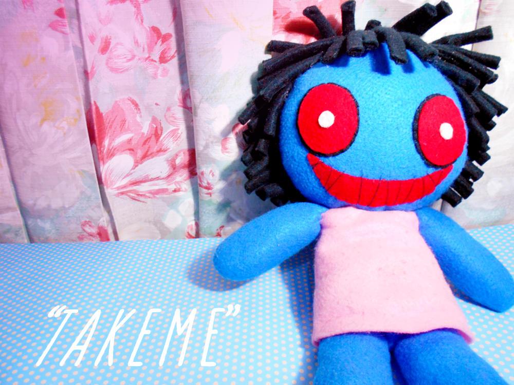 Handmade Blue Doll Plushie