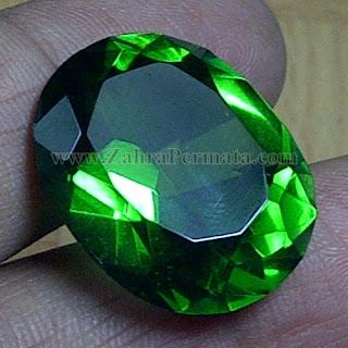 Batu Permata Green Tektite+Memo - ZP 959
