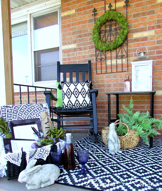 Rustic porch decorating on a budget