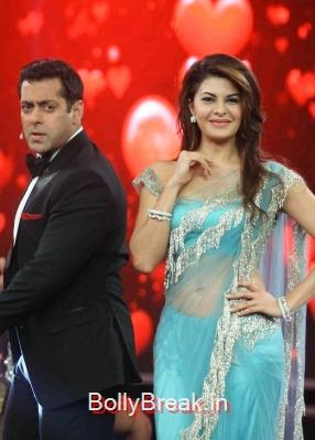 Jacqueline Fernandez, Jacqueline Fernandez Bigg Boss 8 Roy Promotions Hot Images in Green Saree
