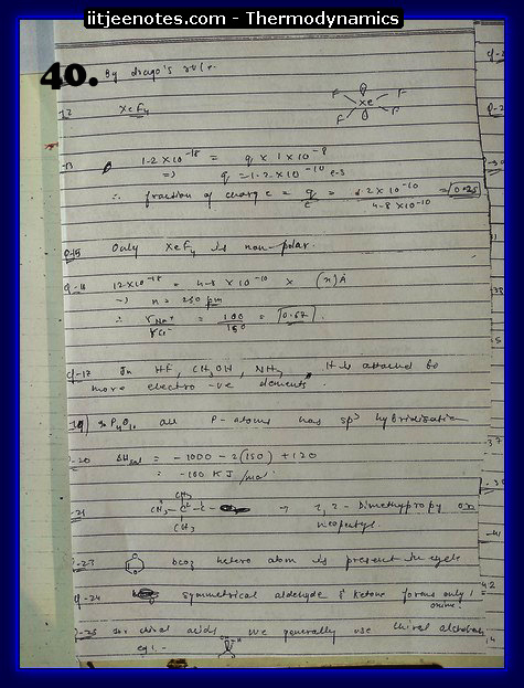 Thermodynamics Notes IITJEE 8