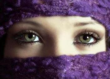 Foto de los ojos de una mujer hermosa