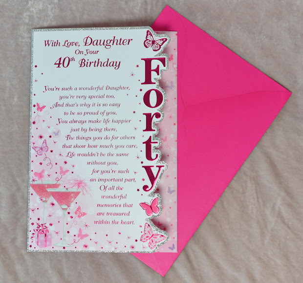 40th Birthday Cards Daughter
