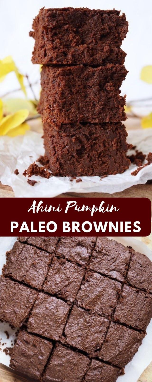 Ahini Pumpkin Paleo Brownies