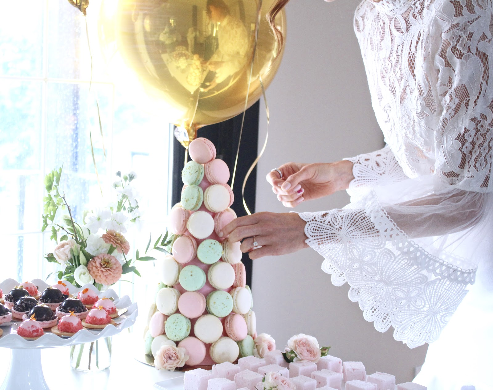 How to Throw a Large Event, Engagement Party Ideas, Summer Engagement Party, Nadege, Sugargirlee, The Fix + Co, Toronto vegan caterer, Honey white engagement outfit, pastels & pastries, GabPacifico wedding, engagement