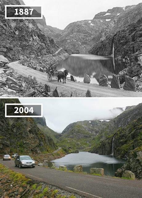 Antes y después Communal Odda Noruega
