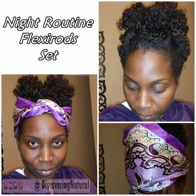 Flexirod set on Natural Hair- Night Routin