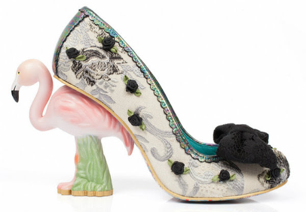 Irregular Choice blushing bird flamingo