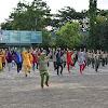 Personel Korem 141/Tp dan Staf Gelar Olahraga Bersama di Makorem