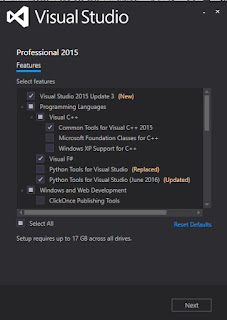 Visual Studio 2015 Update 3 and .NET Core 1.0