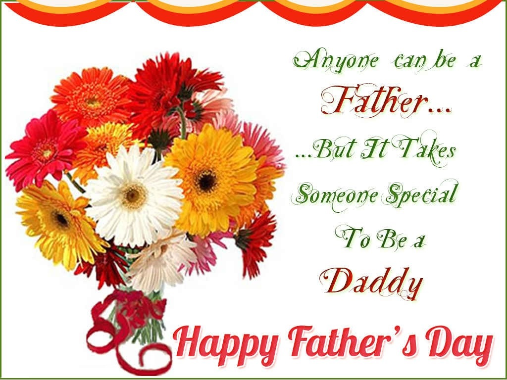 Day Wishes Sweet Flowers For Happy Fathers Day Greetings Cards.Happy Father Day Cards