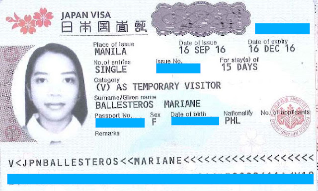 tourist visa japan philippines