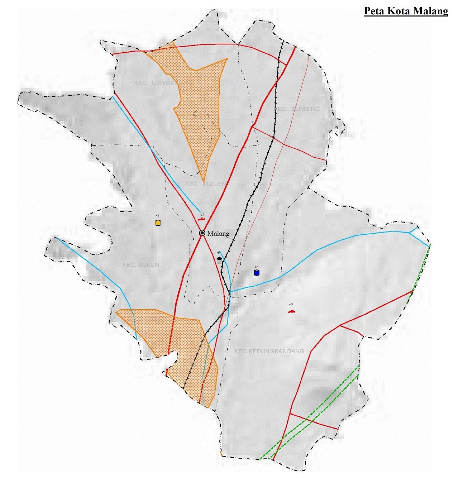 Peta Kota Malang HD