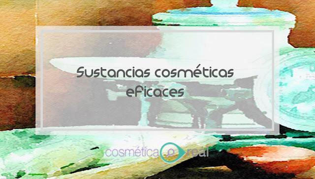 La sustancias cosméticas que son eficaces y con pruebas