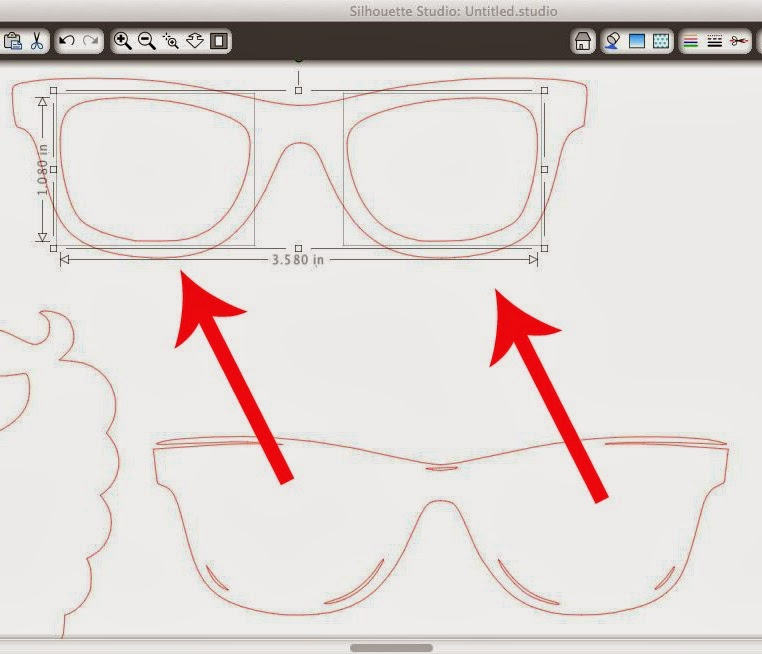 Photobooth props, PicMonkey, Silhouette, DIY, do it yourself, free, sunglasses, tracing