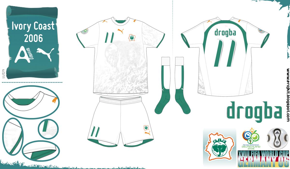 Últimas seleções que vestiram Puma em 2006 que ainda não havia postado.  Aqui estão as Seleções da Costa do Marfim 1df35bd7a5f23