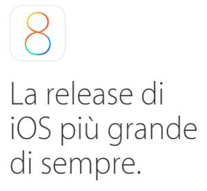ios8 per iphone e ipad