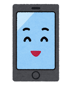 スマートフォンのキャラクター(笑った顔)