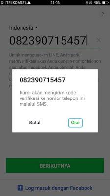 Cara Daftar Akun LINE Android 3