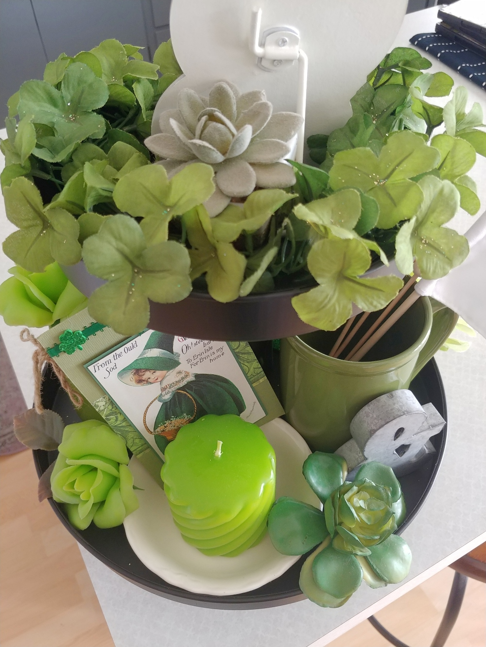 St. Patrick's Day holiday tray