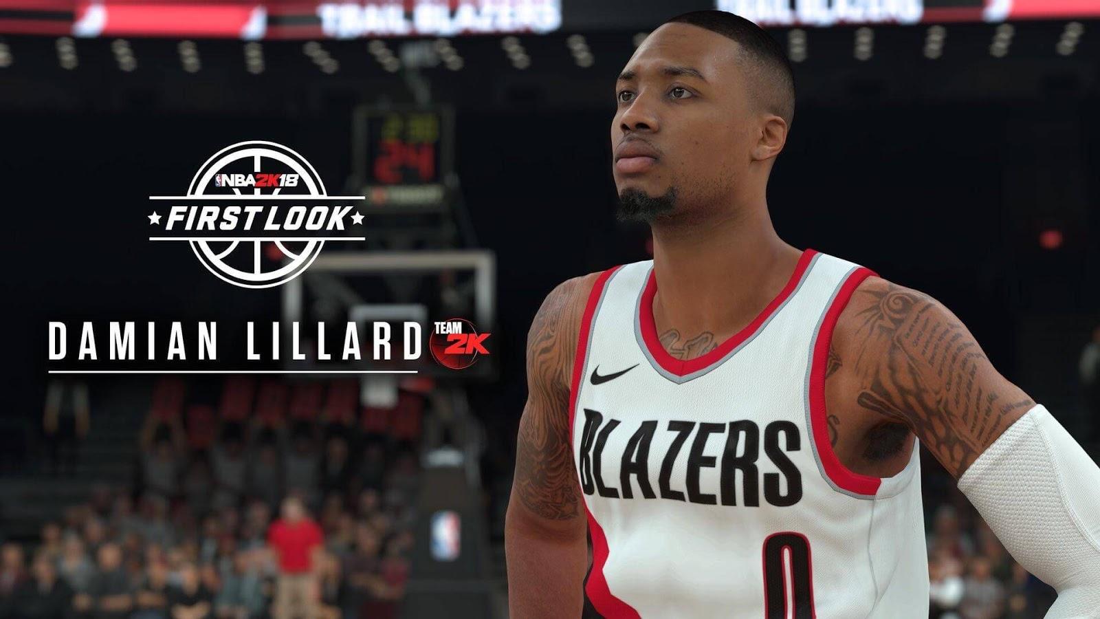NBA 2k18 Damian Lillard Screenshot
