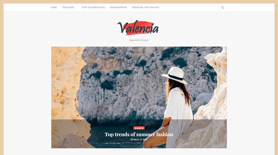 Valencia v1.0 - Responsive Beauty Blogger Template