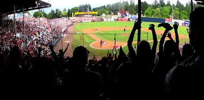 Grand slam home run at Nat Bailey Stadium