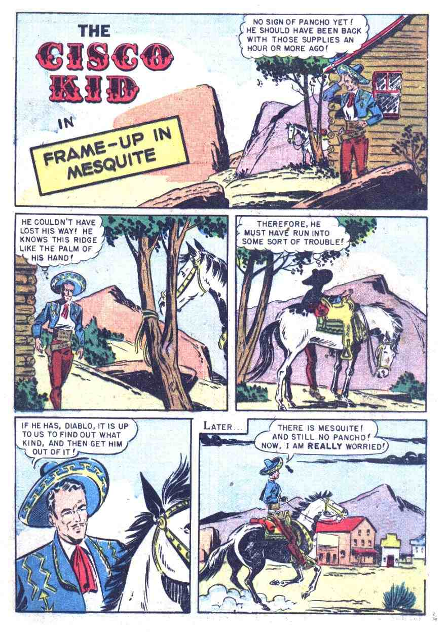 Comic Story Frame Up In Mesquite 16 Pages Featuring Cisco Kid Credits Pencils Bob Jenney